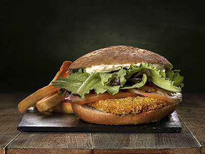 Hamburguesa Crispy Chicken | AquaVera